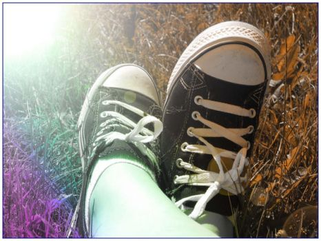 Sneakers in the rainbow by tinystamp
