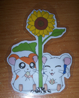 Hamtaro and Bijou keychain by BlueSmudge