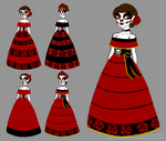 Day Of The Dead Dress and Makeup Concepts by Little-Katydid