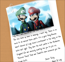 Mario And Luigi Vacation by PinkPuffKirby