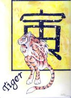 Zodaic series: Female Tiger by forensicfox