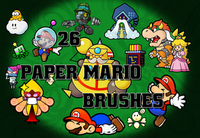 26 Paper Mario Brushes by lilchip85