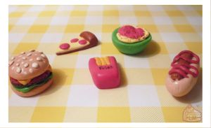 Miniature Dinner Foods by Annortha