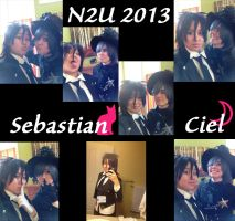 N2U 2013- Sebastian and Ciel Cosplay by RikaYoru