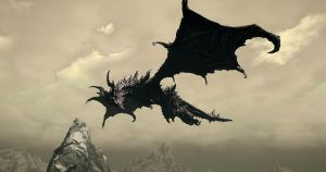 WHAT YOU LOOKING AT, ALDUIN? by camusnotdead