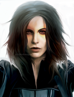 Selene painting by perlaque