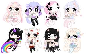 Chibi Mix Adoptables 6 :: CLOSED:: (0/8) by Hunibi
