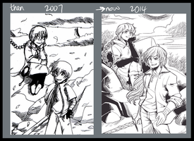 Then and now by Zackypenguin