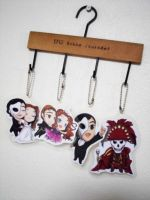 The Phantom of the Opera key chains set by poperart