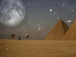 moon over egypt redux by butchen