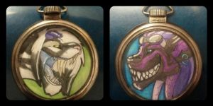 Pocket Watch Badge: AR and Irime 2013 by AirRaiser