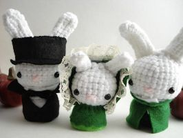 Lestat, Claudia and Louis Buns by MoonYen