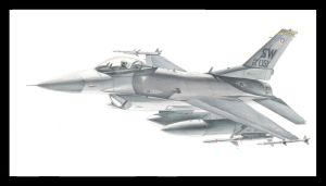 F-16C Shaw Colored Pencil by Raptorguy