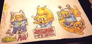 adventure time traditional stickers by HJeojeo