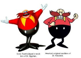 JAP Robotnik(AKA Eggman) and US Robotnik by classicsonicawesome
