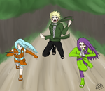 ::COMMISH36:: Forest Battle by JTDP-Archives