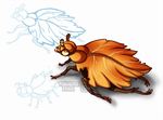 Juju-Islands: Companion: Autumn Leaf Beetle by ParadiseFever