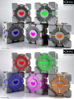 Portal Love Cubes by Semsa