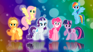My Little Pony FIM Six Mane Wallpaper by BlueDragonHans