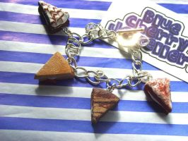 Cake Slice Charm Bracelet by tyney123