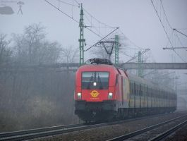 Fast train in gloomy weather by morpheus880223