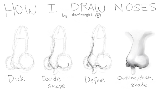 How I draw noses by dumbnargles