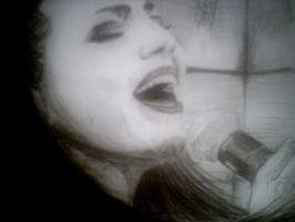 Amy Lee..famous charcoal by Naikuu