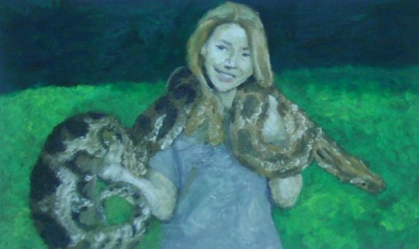 Bindi Irwin oil paint by QuixoticouS