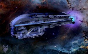 Spaceship Hermes by Wolkenfels