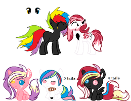 MLP Breedable: Serendipity and Rainbow Saber by ChopstickGirl241