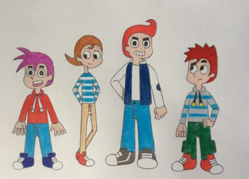 Brian, Rhonda, Ivan and Mike Humanization by NeoNimbus526