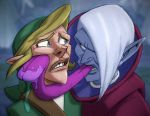 Link and Ghirahim by drawerofdrawings