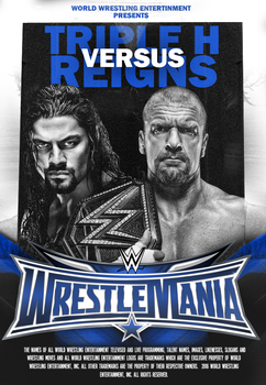 Triple H Vs Reigns // WRESTLEMANIA 32 by A-XDesigner