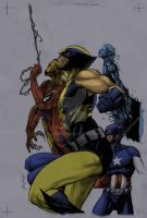 marvel men color by zursoif