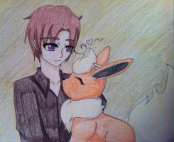 2p! Italy and Flareon by AlternianButterfly