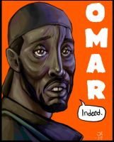 Omar Little speed painting by AsGodNintendo