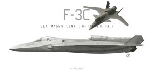 F-3C Shinden II (Sea Magnificent Lightning II FA.1 by fighterman35