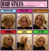 Hair Style Meme with my new wig by EsuNeh