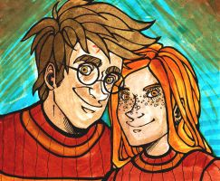 HarryGinny Quidditch by stehfuhknee