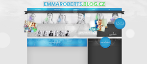 Ordered layout with Emma Roberts by redesignbea