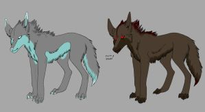 Stitched wolf adoptables by xXNuclearXx