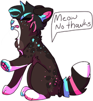 Meow No Thanks by AnamayCat