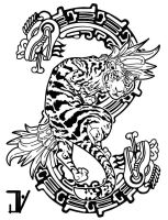 uncle tattoo design tiger serpent by jhnyv
