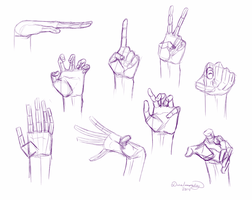 ~Hands Sketch Practice~ by DivineImmortality