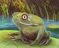 Quiet Frog by ladindequichante