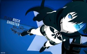 Black Rock Shooter Wallpaper by nicobass20