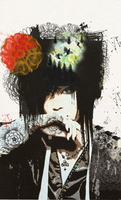 Surreal portrait Uruha. by Rin-U