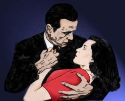 Bogart and Bacall-colored by mangangelo