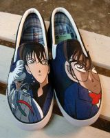 Bandit Kid X Detective Conan , custom shoes by Annatarhouse
