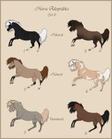 Horse Adoptables batch 6 CLOSED by Paardjee